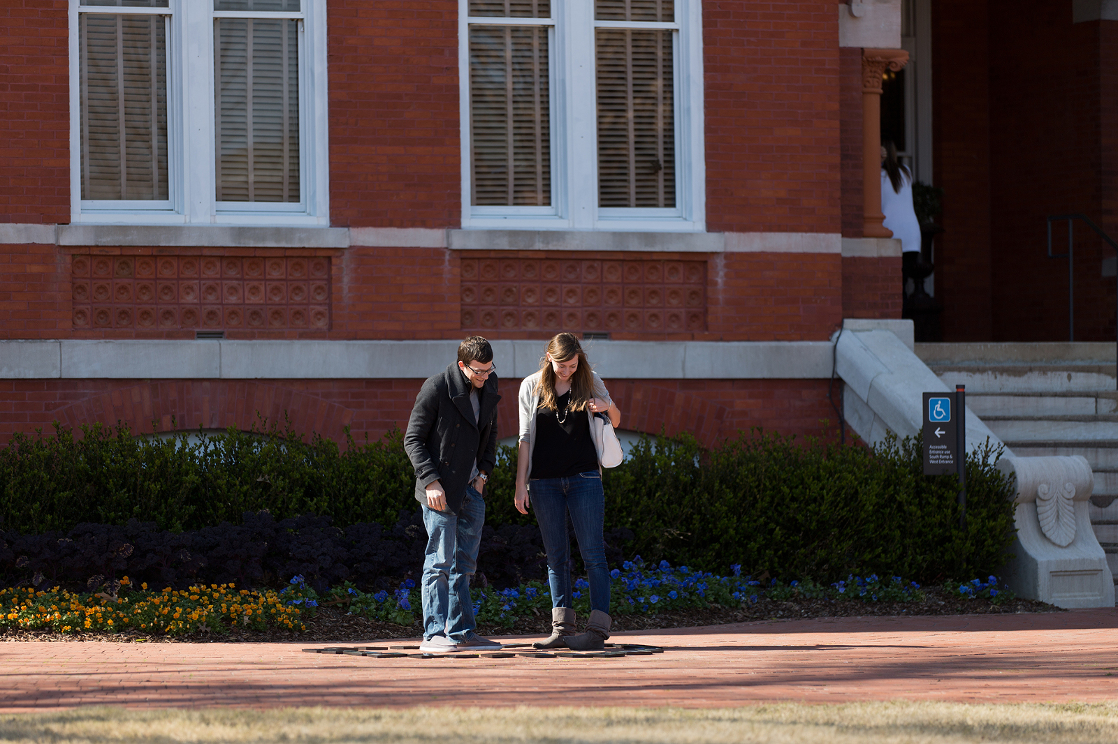 couple before a proposal at samford hall