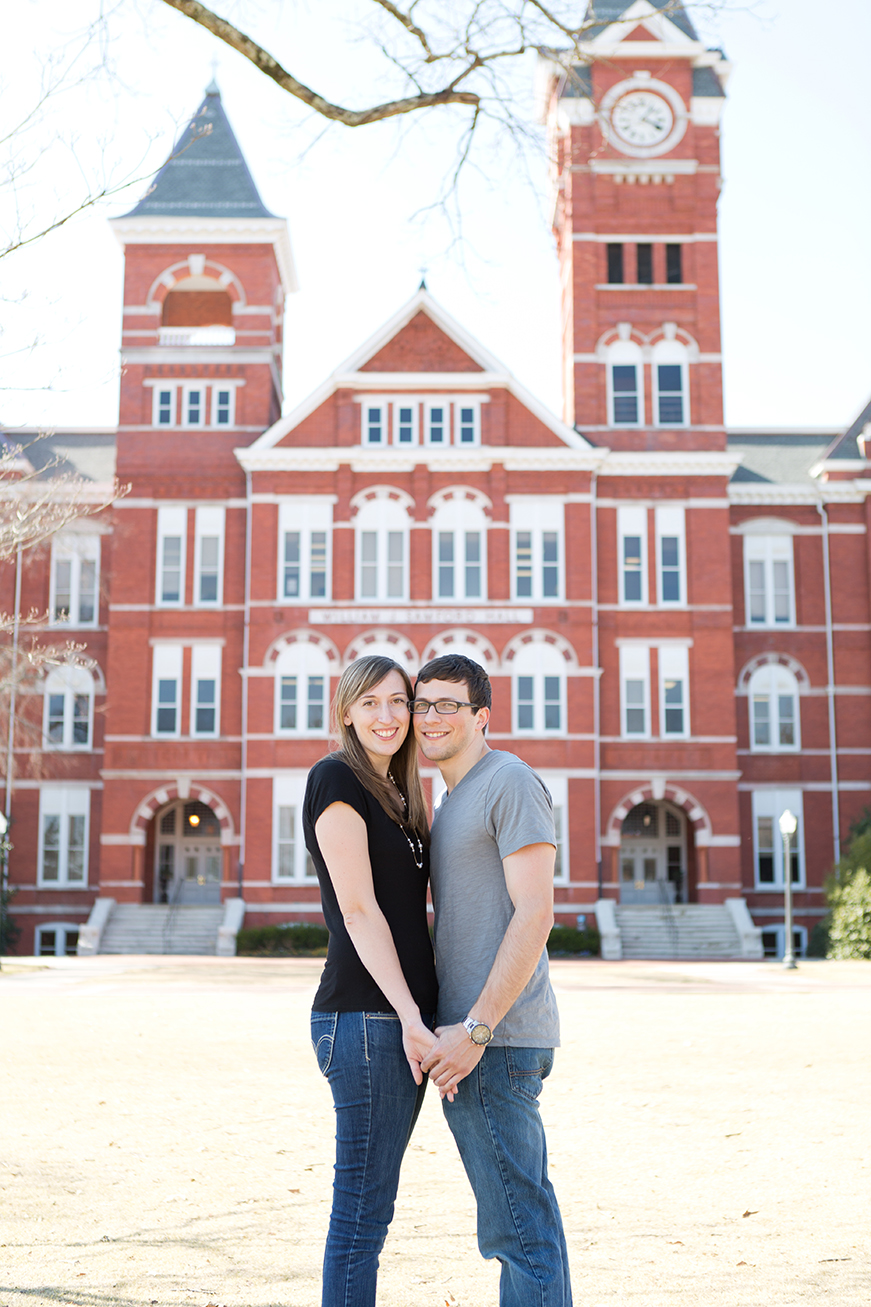 couple after samford hall proposal