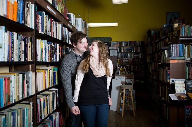 couple in bookstore