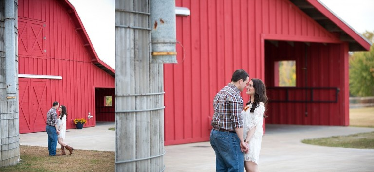 engagement session outside barn