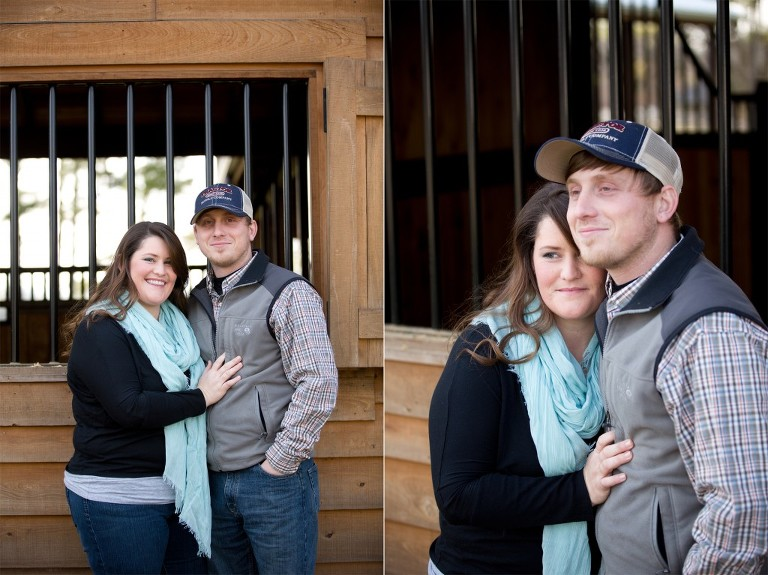 horse barn engagement session