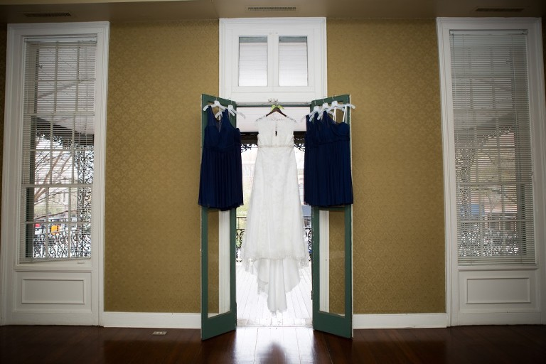 wedding dresses hanging