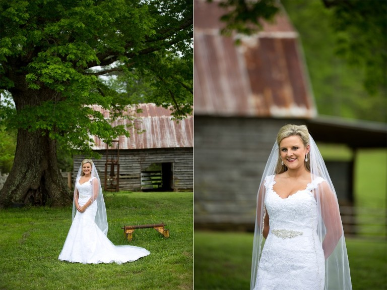 twin oaks barn bridal session