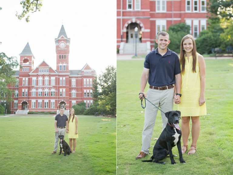 samford lawn photos with dog