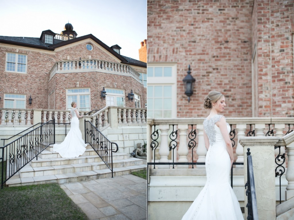 1 Fountainview Mansion Wedding Elegant Bridal Portrait