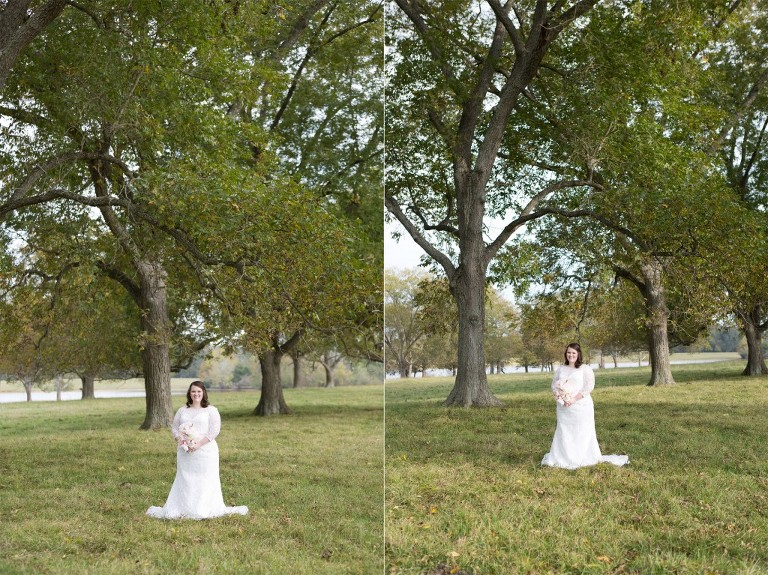 southern pecan grove bridal session