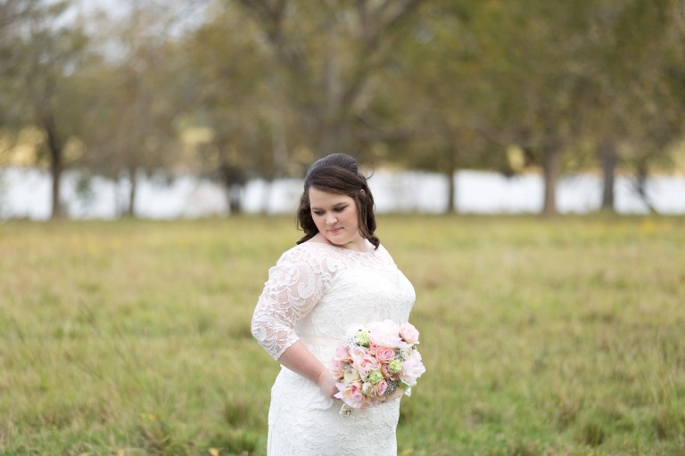 field bridal session