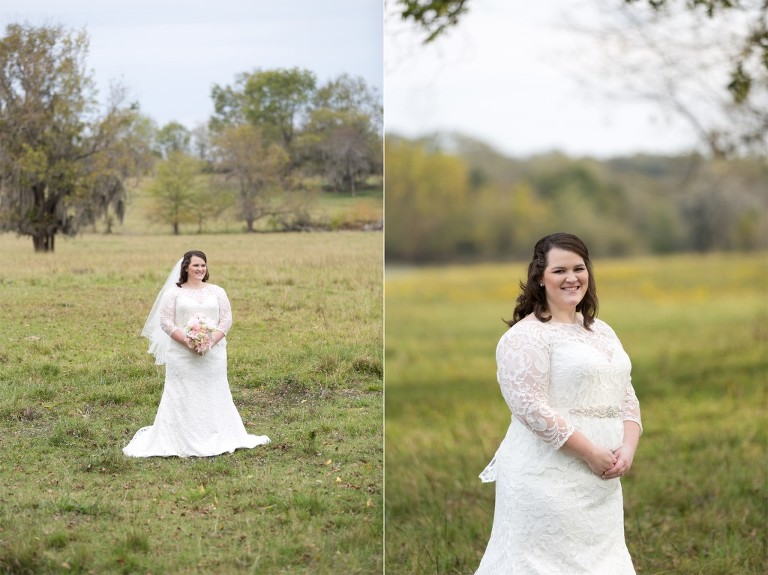 open field bridal session