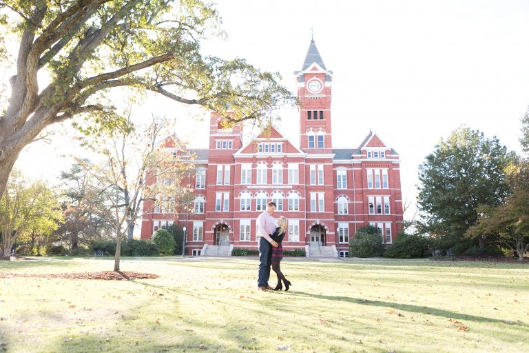 samford hall engagement session
