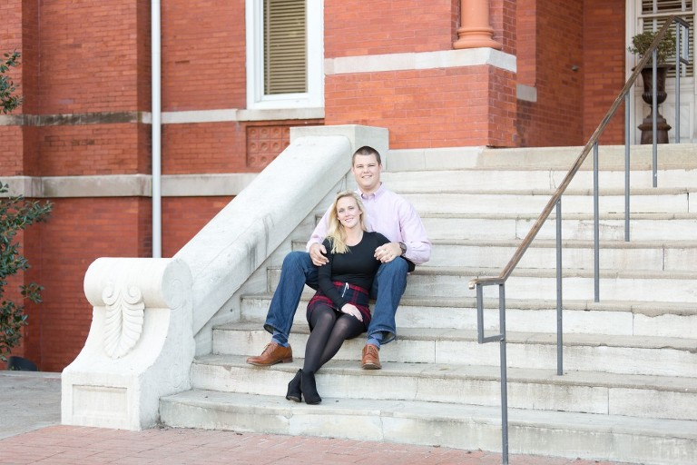 engagement samford hall steps