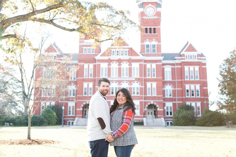 samford lawn engagement session