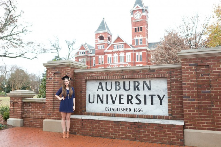 auburn university sign cap and gown