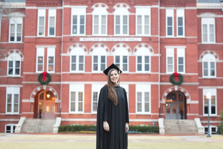 samford hall cap and gown session