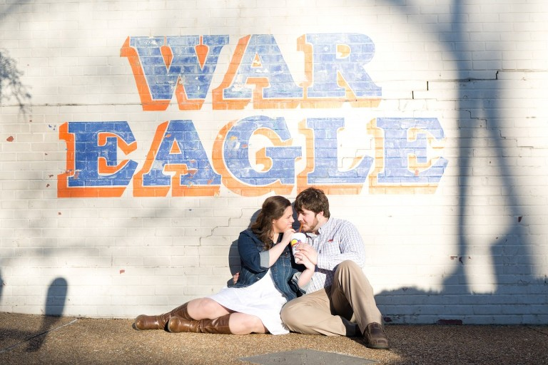 auburn war eagle wall couple with lemonade