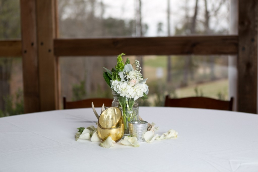 small floral arrangement centerpiece
