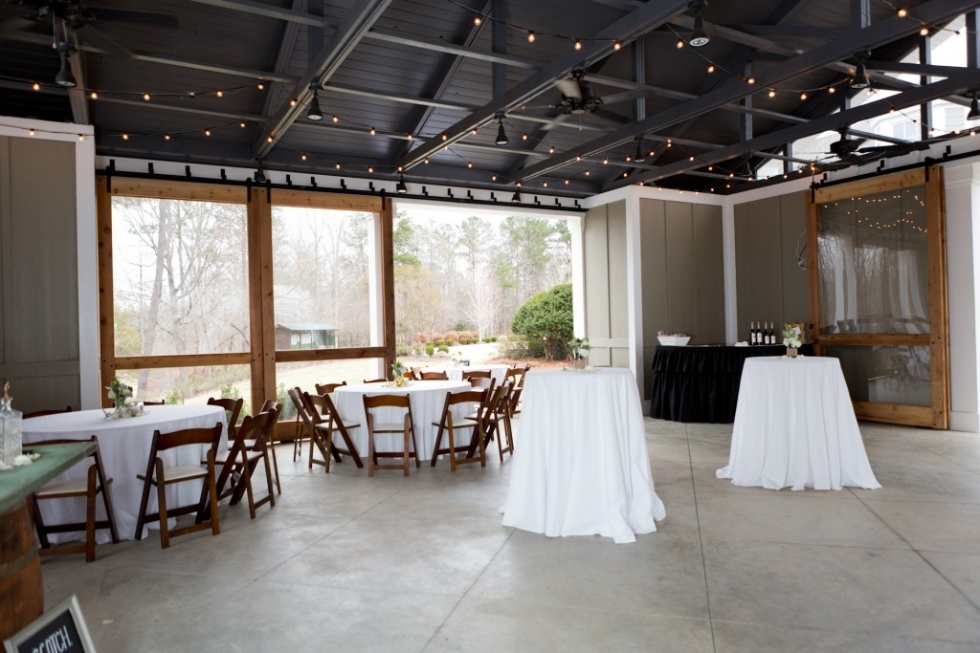 Auburn University Club Pavilion Wedding Reception