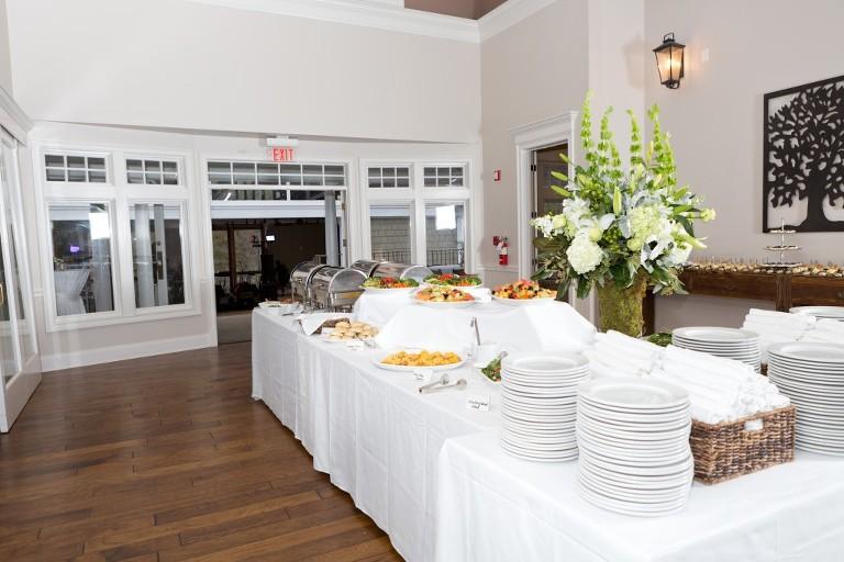 buffet table indoor wedding