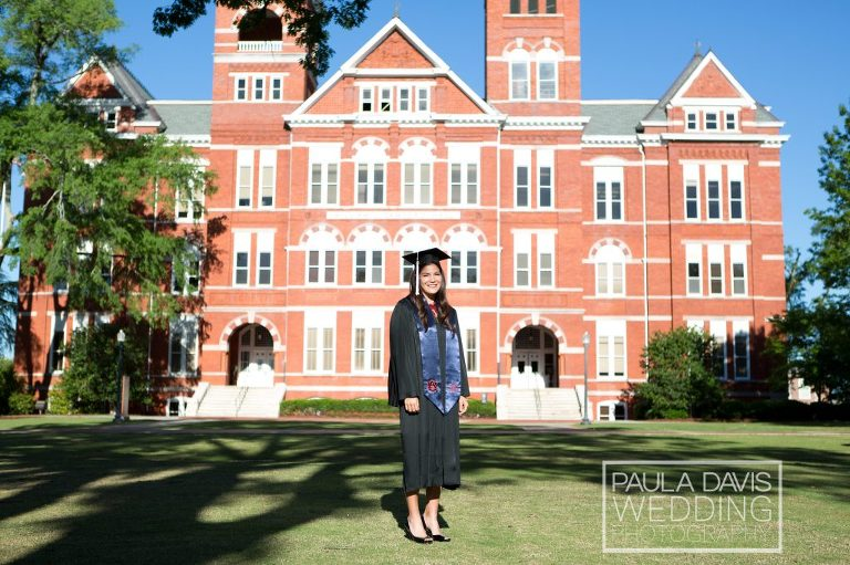 auburn cap and gown session