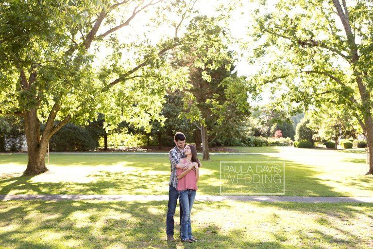 park engagement session