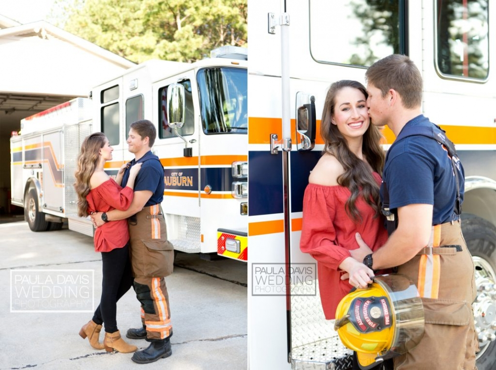 engagement session fireman