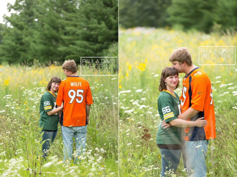 football jersey wedding