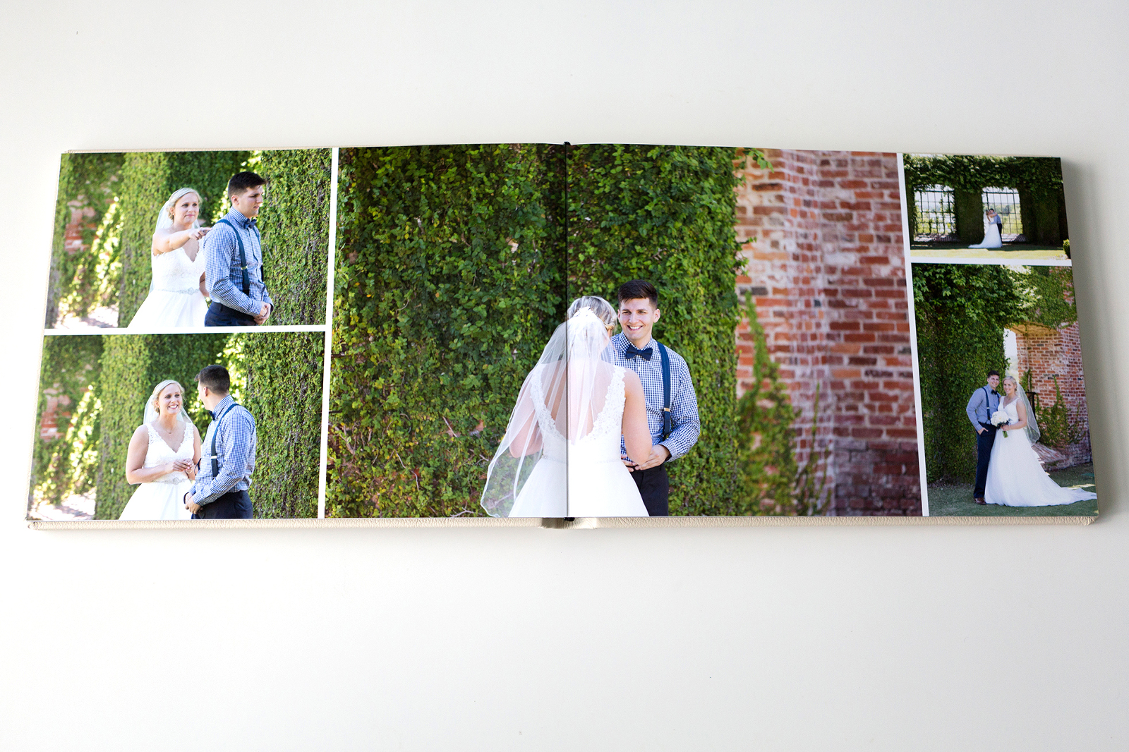 wedding album spread