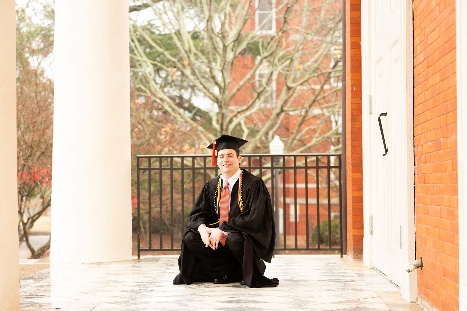 cap and gown session auburn