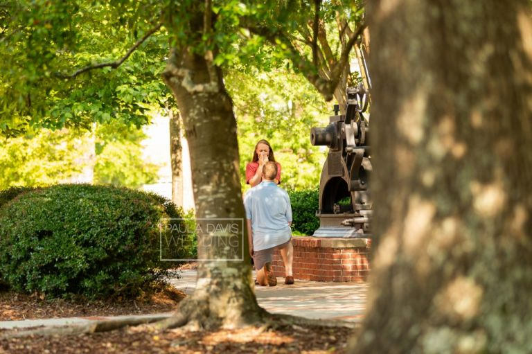 proposal near samford hall at auburn university
