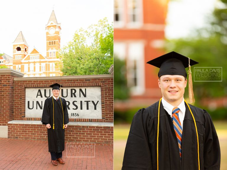 auburn university student in cap and gown